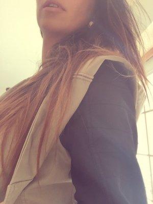 Orsay Veste à capuche beige clair-noir