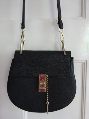 Crossbody bag black leather