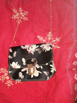 Crossbody bag black-pink