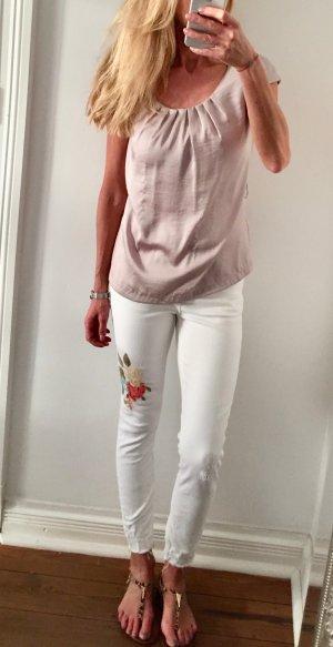 Zara Basic 7/8 Length Jeans white cotton