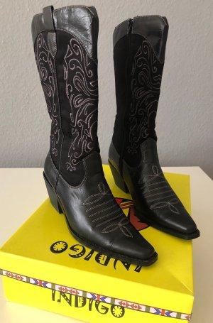 INDIGO Botas estilo vaquero negro