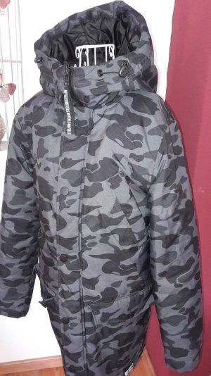 Trendiger #Camouflage #Military #Wintermantel mit Kapuze von #divided H&M Gr. S