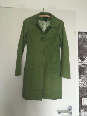 trendiger Herbstmantel Trenchcoat H&M XS grün