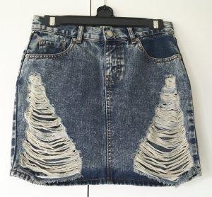 Trendiger Jeans Mini Rock High Waist im Used Look von Asos Gr. 34/36