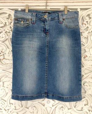 trendiger Jeans Rock von HALLHUBER * used look * GR. 36 S