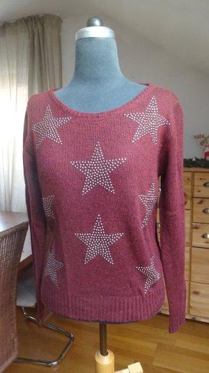 Trendiger Pullover mit Sternen aus Strasssteine