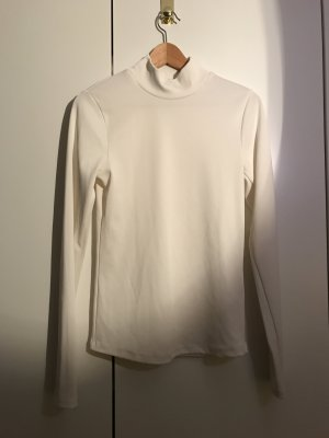H&M Turtleneck Shirt natural white polyester