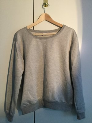 Trendiger Sweater in grau silber