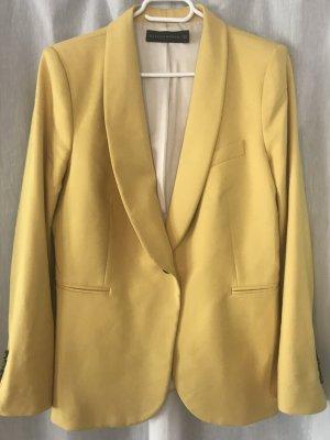 Zara Basic Blazer stile Boyfriend giallo