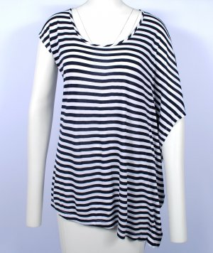 Blacky Dress Gestreept shirt wit-donkerblauw