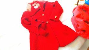 trendiiiiige modische rote mantel  mit g knöpfen toptrendiige mit dicken gürtel