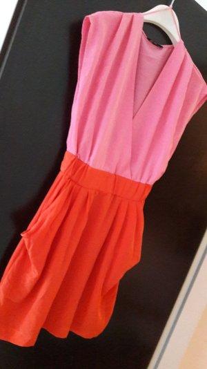 trendiiiiige modische rotpinkes kleid