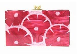 Trending Abendtasche Hochzeit Braut Party Tasche Clutch Klutsch aus Acryl Rot