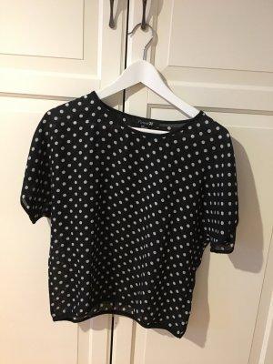 Trendmuster gepunktet Schwarz-weißes Shirt
