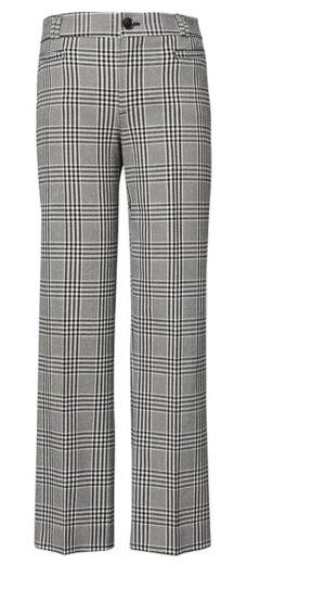 Trendmuster Glencheck Karo - Cropped Hose von Banana Republik