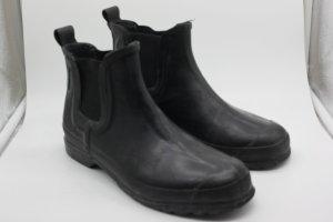 Trendstiefel Gummistiefel Ganz Schwarz Basic Gr.37 Gummibund Boots Booties Stiefeletten