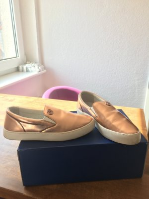 Trendy Armani Jeans-Loafer in Rosé-Gold
