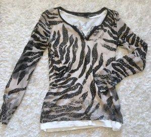 Trendy Damen Langarm Blusen Shirt von Marc Aurel Gr. 36