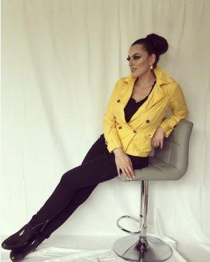 Orsay Short Blazer yellow-silver-colored
