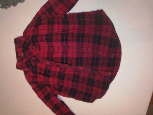 Tally Weijl Chemise de bûcheron noir-rouge foncé