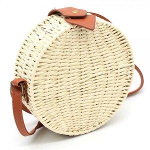Bolso tipo cesta beige claro-marrón