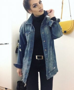 Only Denim Jacket blue-silver-colored