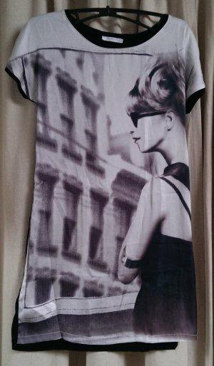 trendy Longshirt mit sixties Print