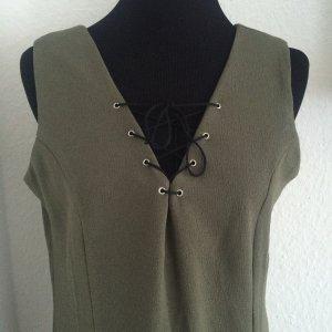 Trendy Minikleid mit Schnürung Khaki