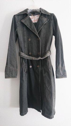 Trendy Stone Washed Jeans Trenchcoat, Größe 40/42