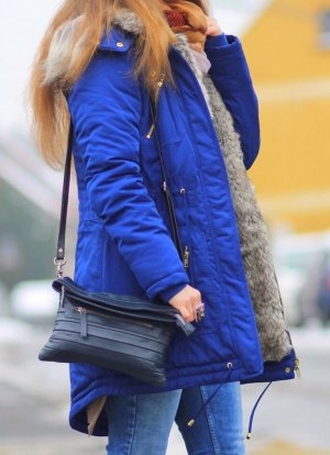 Laura Scott Parka azul