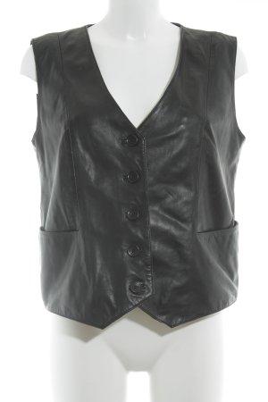 trendzone Lederweste schwarz klassischer Stil