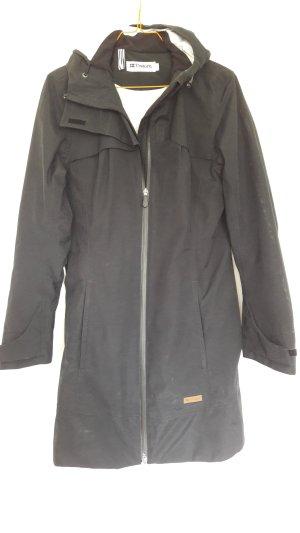 Manteau mi-saison noir tissu mixte