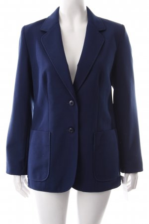 Trevira Boyfriend Blazer dark blue simple style