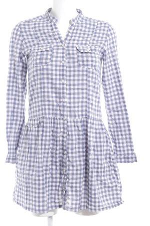 TRF A-Linien Kleid graublau-weiß Karomuster Casual-Look