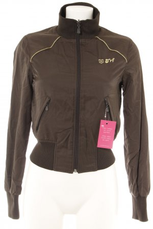 TRF Bomber Jacket dark brown-gold-colored casual look