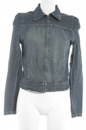 TRF Denim Jeansjacke stahlblau Street-Fashion-Look