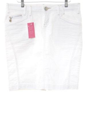 TRF Denim Spijkerrok wit straat-mode uitstraling