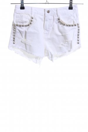TRF Denim Denim Shorts white casual look