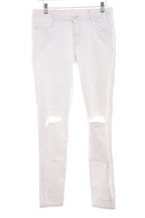 TRF Denim Skinny Jeans weiß Urban-Look