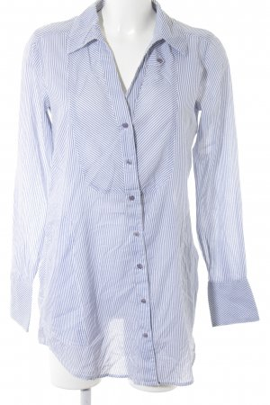 TRF Long Sleeve Shirt white-azure striped pattern casual look