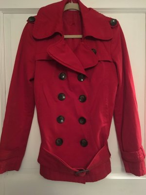 TRF Mantel Trenchcoat rot Gr. S