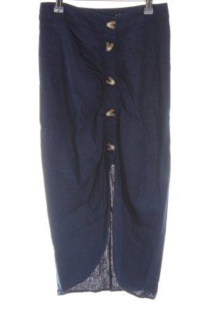 TRF Midirock blau schlichter Stil