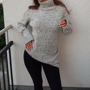 TRF Pullover Strickpullover Schwarz Weiß