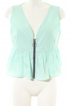 TRF Peplum Top turquoise casual look