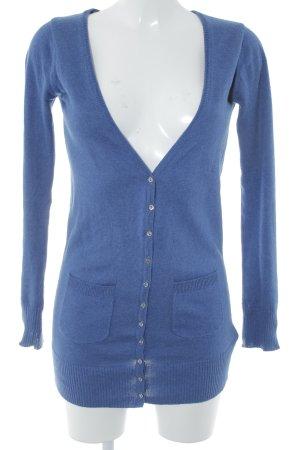 TRF Strick Cardigan blau College-Look