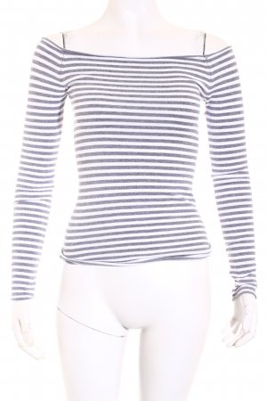 TRF Knitted Sweater grey-white striped pattern casual look