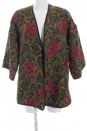 TRF Übergangsjacke florales Muster extravaganter Stil