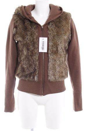 TRF Giacca reversibile marrone-marrone-grigio stile casual