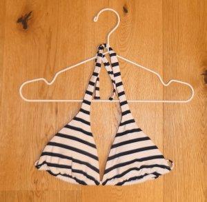 Triangel Bikini Top, weiß-blau gestreift, Venice Beach, Größe S, NEU