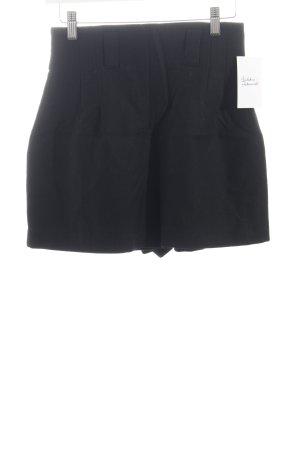 Triangle High-Waist-Shorts schwarz Retro-Look